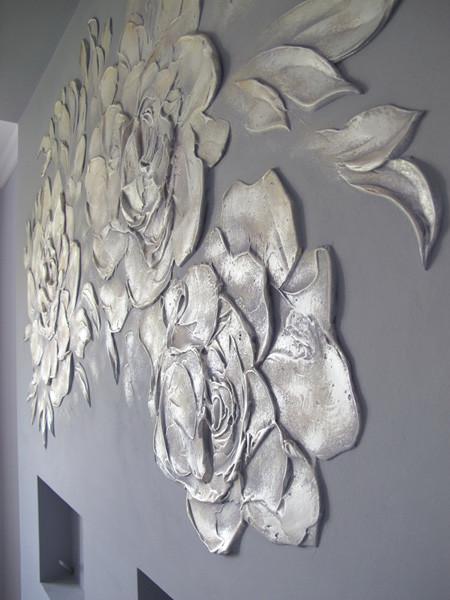 Фото декоративной штукатурки цветы