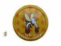 Крышка Твист-Офф на 82мм желтая с пчелой