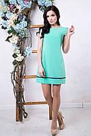Летнее женское платье Алеся мята ТМ Irena Richi 42-48 размеры