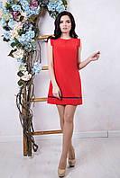 Летнее женское красное платье Алеся ТМ Irena Richi 42-48 размеры