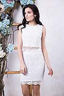Летний женский белый костюм Ажур ТМ Irena Richi 42-48 размеры