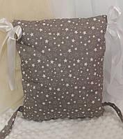 Подушка для бортиков в детскую кроватку 30*40
