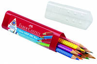 Цветные карандаши в пластиковом тубусе на 10цветов,арт 112411