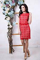Летний женский красный костюм Ажур ТМ Irena Richi 42-48 размеры