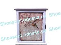 Навесной шкаф для ключей Колибри гобелен