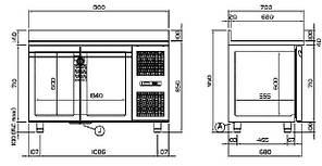 Холодильный стол Coldline TP13/1MX, фото 2