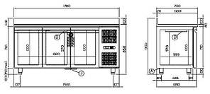 Холодильный стол Coldline TP17/1MEX, фото 2
