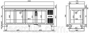 Стол холодильный Coldline TP21/1ME, фото 2
