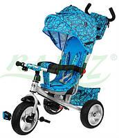 Детский велосипед Sport Trike STORM резиновые колеса Голубой