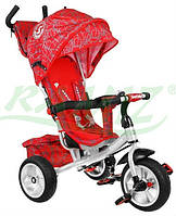 Детский велосипед Sport Trike STORM резиновые колеса красный