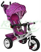 Детский велосипед Sport Trike STORM резиновые колеса фиолетовый