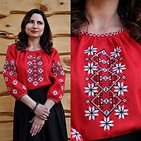 Вышиванка женская красная, фото 1