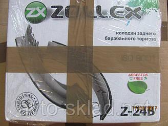 Колодки гальмівні Волга ГАЗ 2401, 2410, 31029, 3110, 31105 Zollex 4шт.