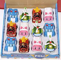 Набор из 12 машинок для детей от 3 лет Robokar Poli Citi Hero Cars