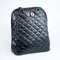 Черный городской рюкзак женский