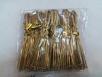 Невидимки для волос золото 8 см