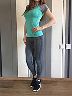 Лосины спортивные женские серые