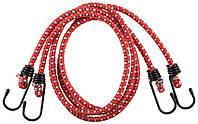 Багажная крепежная резинка с металлическими крючками (набор 2 шт.х120 см)