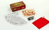 Настольная игра русское лото 8815R в картонном футляре (коробке): 90 бочонков + 24 карточки