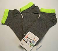 Мужские летние носки темно-серого цвета с цветной резинкой