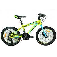 Подростковый спортивный велосипед  20 дюймов PROFI G20HARDY A20.1 оборудование Shimano ***