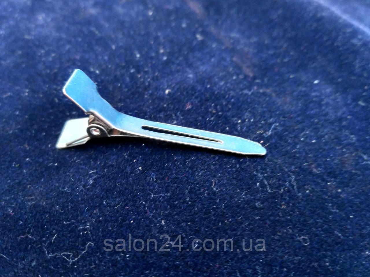 Заколка уточка металлическая малая 4,5мм  (12 шт.)