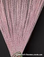 Шторы Нити Дождик Розовый № 05