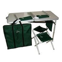 """Стол складной и 4 стула Ranger TA 21407+FS21124 + чехол """"Скаут."""" в подарок"""