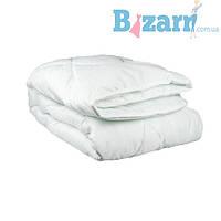 Одеяло 2-й силикон  ткань поликоттон БЕЛЫЙ евро (в чемодане) УкрЮгТекстиль