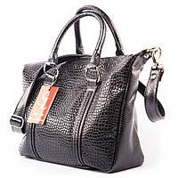 Черная оригинальная сумка в лаке модель v1358lizard