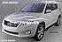 Пороги площадки для Toyota Rav4 2006-2012 (стиль Elegant Black), фото 4