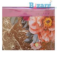 Постельное белье комплект 5D (с цветами) двойка