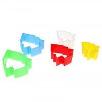 """Вырубка пластиковая """"Елочки"""" набор из 5 форм"""