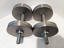 Гантели наборные, разборные две по 14 кг. (сталь без покрытия)