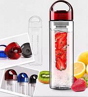 Стильная бутылочка Fruit Bottle с емкостью для фруктов (Фрут Ботл) 800 мл