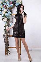 Короткое черное платье Эвелина ТМ Irena Richi 42-48 размеры
