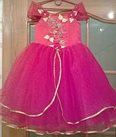 NEW! Шикарное красно-золотое детское платье на 4-6 лет
