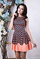 Котоновое женское платье Горох ТМ Irena Richi 42-48 размеры