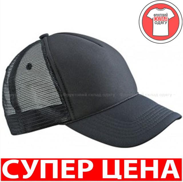 Черная Пятипанельная кепка тракер Ретро