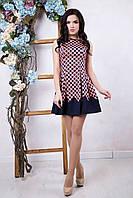 Летнее женское платье Горох ТМ Irena Richi 42-48 размеры
