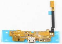 Шлейф для LG D285 Optimus L65 Dual Sim с разъемом зарядки. микрофоном. компонентами, фото 2