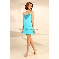 Женская ночная сорочка. М-61 лазурный Violet delux dfc813bbfe0a0