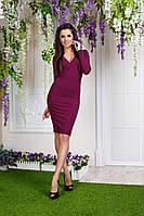 Платье с глубоким декольте, ткань - мустанг. Разные размеры и цвета. Розница, опт в Украине.