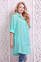 Женское летнее Платье-рубашка Большие размеры