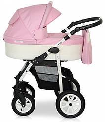 Детская коляска универсальная 2 в 1 Verdi Laser 02 розовая (Верди, Польша)