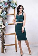 Летний женский зеленый костюм Эксклюзив ТМ Irena Richi 42-46 размеры