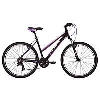 """Велосипед 26"""" Pride Stella 1.0 рама - 20"""" черный/розовый/сиреневый 2017"""