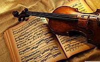 Набор алмазной мозаики Скрипка и ноты 40 х 30 см (арт. FS507)