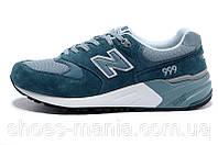 Мужские кроссовки New Balance 999  сине-зеленые, фото 1
