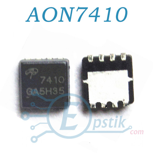 AON7410, (7410), MOSFET Транзистор, N канал, 24A, 30V, DFN 3x3
